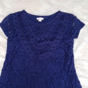 Xhilaration Lace Overlay Dress